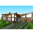 high roof house vector image