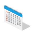 isometric calendar icon vector image vector image