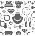 jewelry seamless pattern glyph vector image