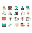 knowledge and education flat icons vector image
