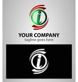 Letter I Company logo icon template set vector image vector image