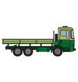 Light and dark green truck vector image