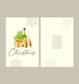 merry christmas and happy new 2022 year card vector image