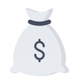 Money Bag with Money vector image vector image