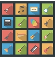 Musical Instruments flat icons set vector image vector image