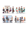 office workers at business meeting and conference vector image vector image