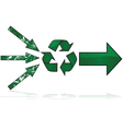 Recycling path vector image vector image