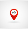 red location icon for currency exchange eps file vector image