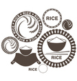 Rice vector image vector image