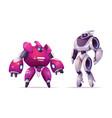 robot transformers robotics ai cyborgs warriors vector image