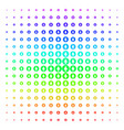 rounded arrow shape halftone spectrum pattern vector image vector image