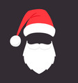 santa claus mask christmas santaclaus party vector image vector image