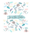 save the date abstract soft design witn different vector image vector image