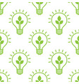 seamless pattern with electric light bulb with vector image