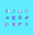 set simple line icons computer science vector image vector image