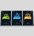 set tennis championship banners design vector image vector image