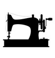 sewing machine old retro vintage icon stock vector image