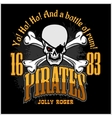 Skull in pirate hat - Jolly Roger vector image vector image