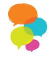 speech bubble colorful set vector image