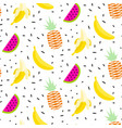 summer fruit pattern with bananas pineapples and vector image vector image