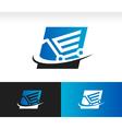 Swoosh Shopping Cart Logo Icon vector image vector image