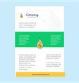 template layout for water drop comany profile vector image