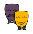 theater mask icon vector image vector image