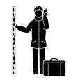 topographer man icon simple style vector image vector image