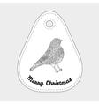 Toys on christmas tree - bird Christmas vector image