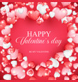 valentines day concept background with realistic vector image