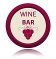 Wine icon vector image