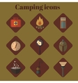 Icon set Flat design Camping vector image