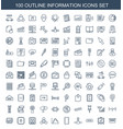 100 information icons vector image vector image
