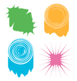 a set of four abstract colored blots vector image vector image