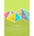 Abstract flat tech concept background vector image vector image