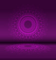 abstract mandala design background vector image vector image