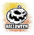 an evil pumpkin character vector image