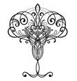 art nouveau inspired decorative design element vector image vector image