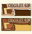 banners for chocolate bar vector image vector image
