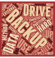 Best Methods To Backup Files text background vector image vector image