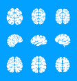 brain thinking icon set simple style vector image vector image
