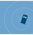 british police box vector image vector image