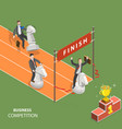 business competition flat isometric low poly vector image vector image