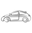 car drawing on white background vector image vector image