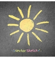 Chalk drawing of sun vector image