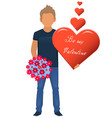 character be my valentine vector image vector image