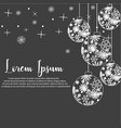 christmas ball isolated b vector image vector image