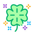 clover icon outline vector image