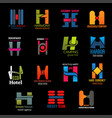 company corporate identity trendy h icons vector image vector image