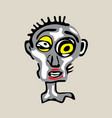 cool dead face vector image